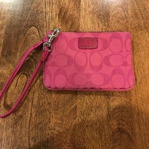 Coach pink wristlet